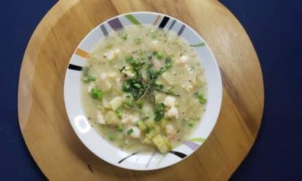 Shrimp & Potato Chowder with Thyme & Mascarpone