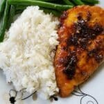 Garlic-Tamari Chicken with Sautéed Green Beans