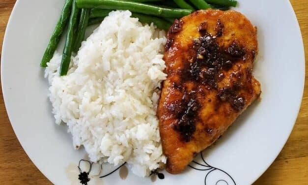 Garlic Tamari Chicken with Sautéed Green Beans
