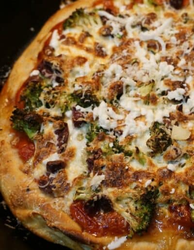 Broccoli Black Olive Pizza 5