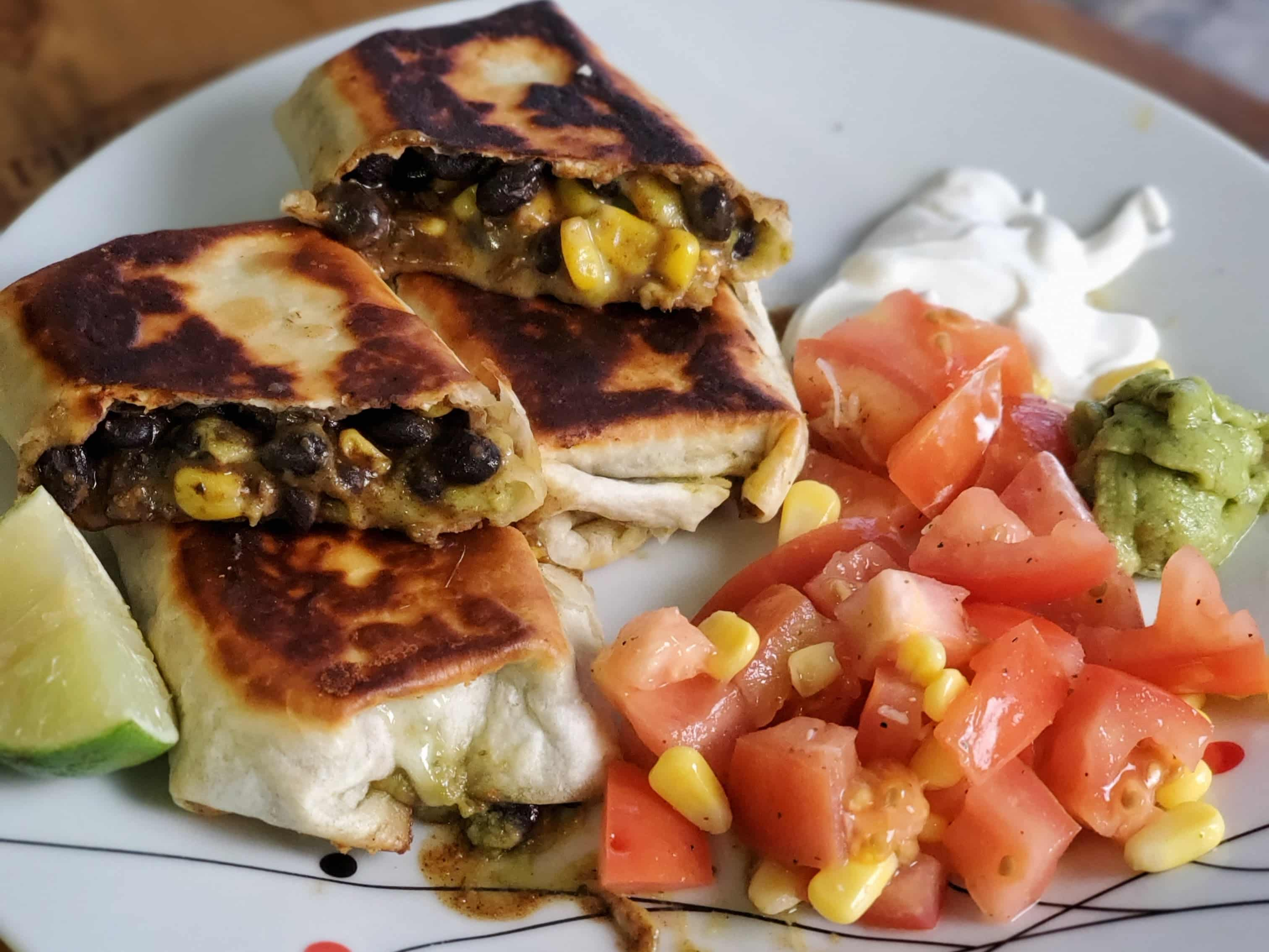 Black Bean & Corn Chimichanga and a Wine Pairing