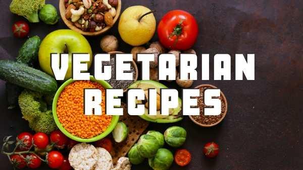 Veg recipes header image