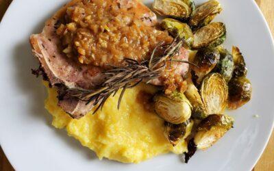 Rosemary Monster Pork Chop and wine pairing
