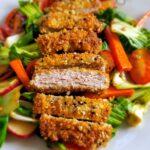 Sesame Pork Cutlets with Bok Choy