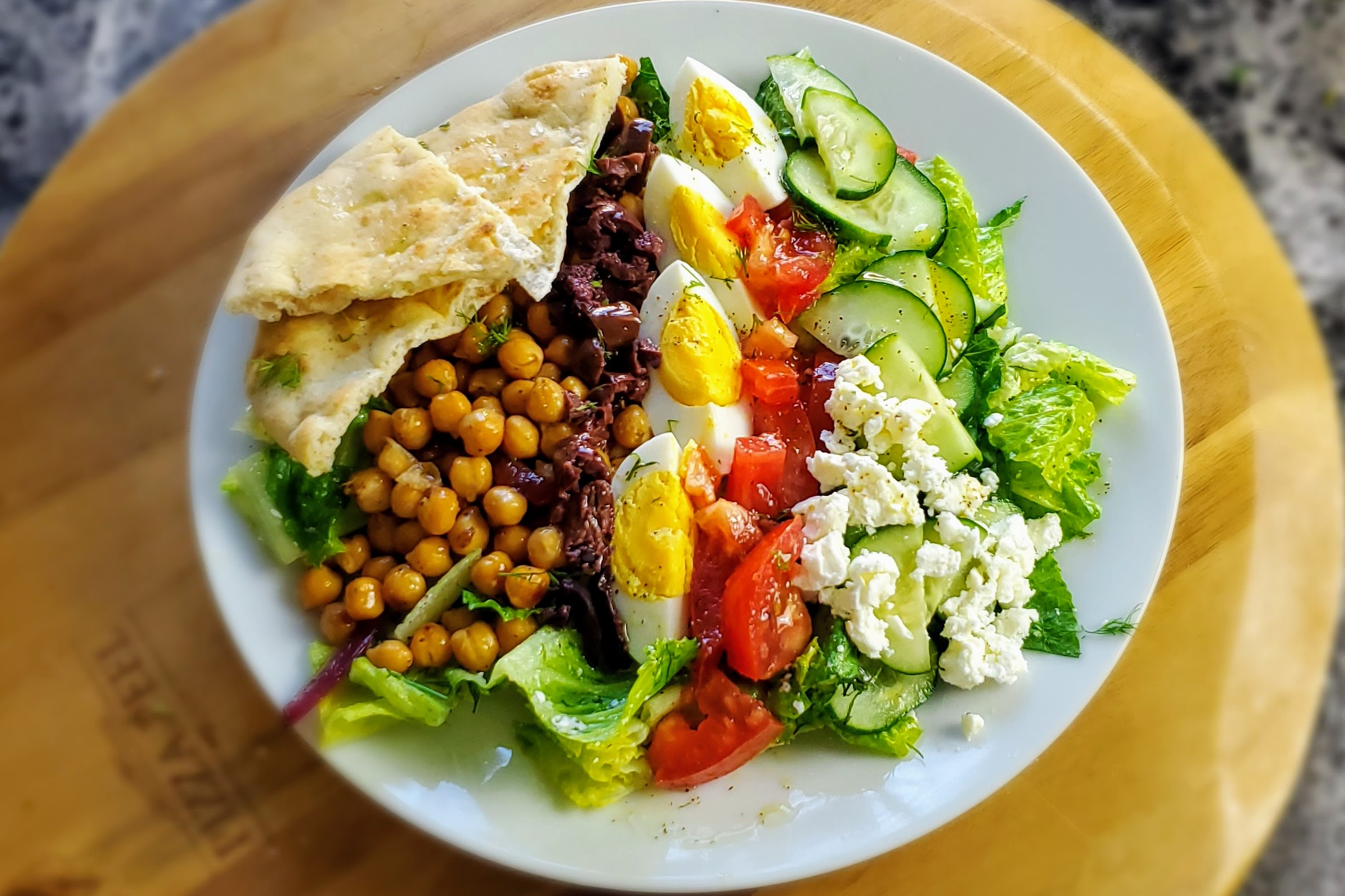 Vegetarian Greek Cobb Salad with a wine pairing