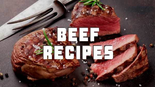 beef recipes header image