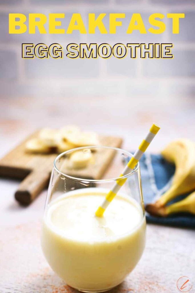 A Breakfast Egg Smoothie