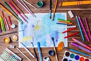Media Techniques art class