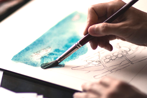 adult watercolor painting class