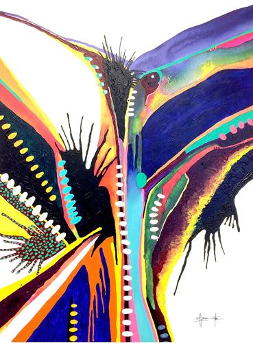 """Grady Pennington, Phoenix, acrylic 30""""x40"""""""
