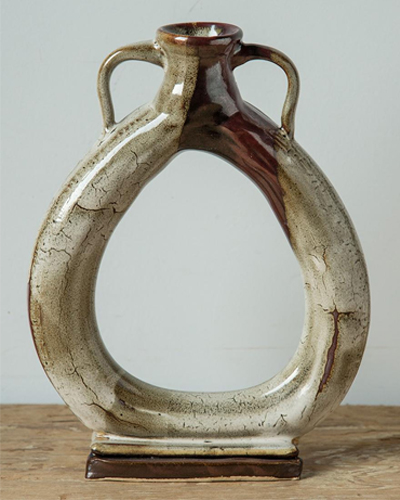 "Wendy Gustafson, Ring Vase, 8"" x 10"""