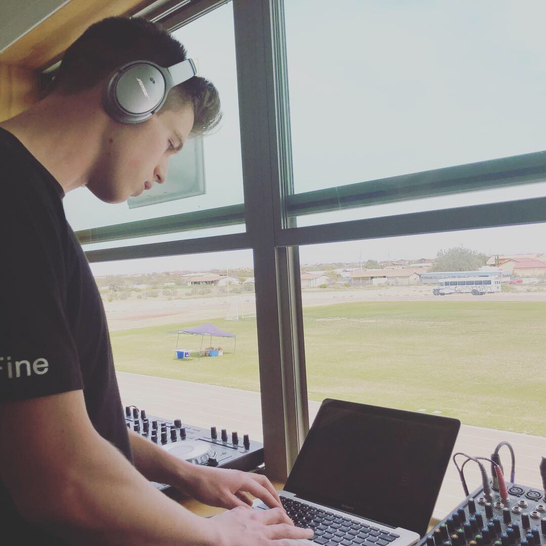 DJ at the booth