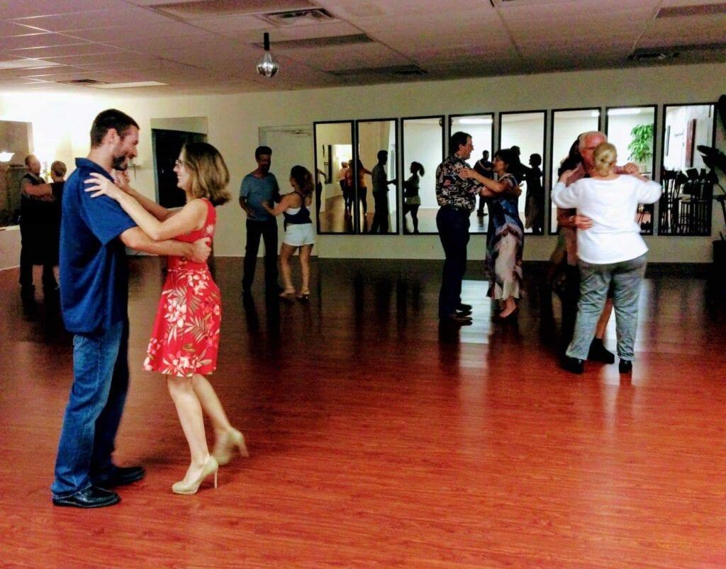 dance studio with people dancing
