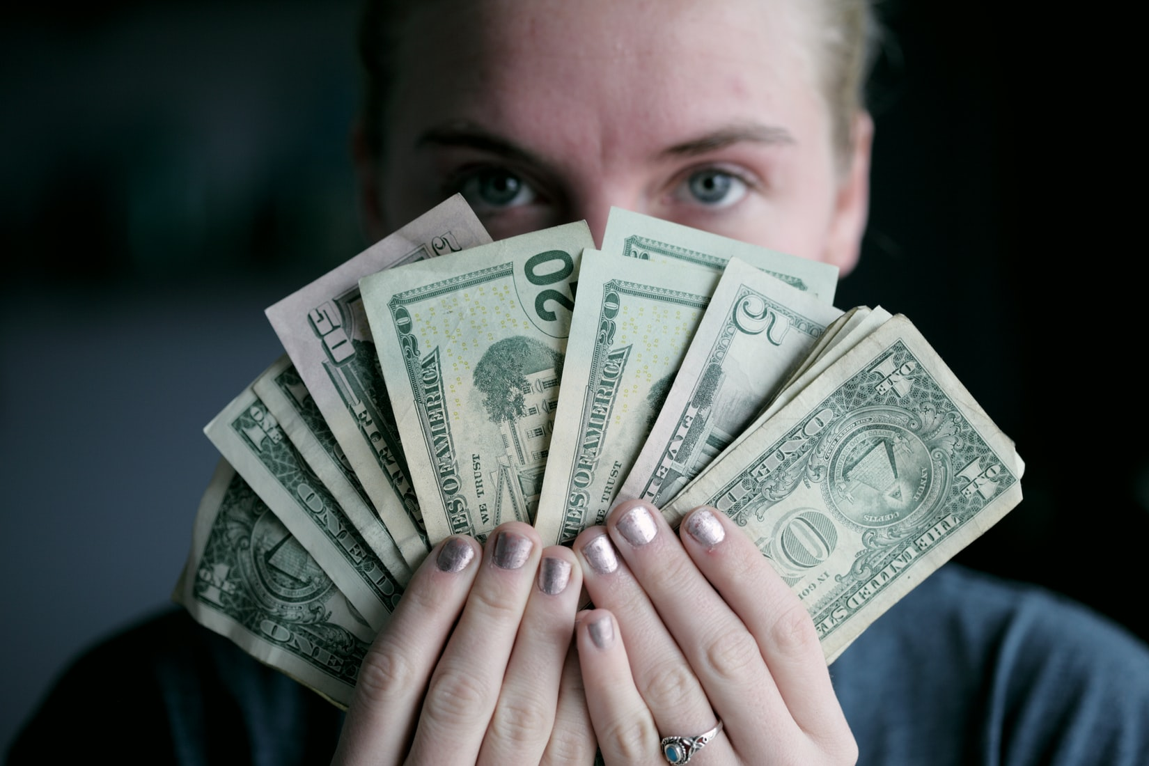 counting money for business savings for teens