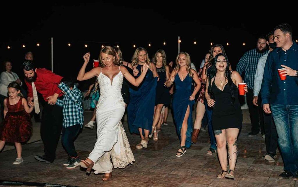 bride dancing at wedding reception in Buckeye, Arizona