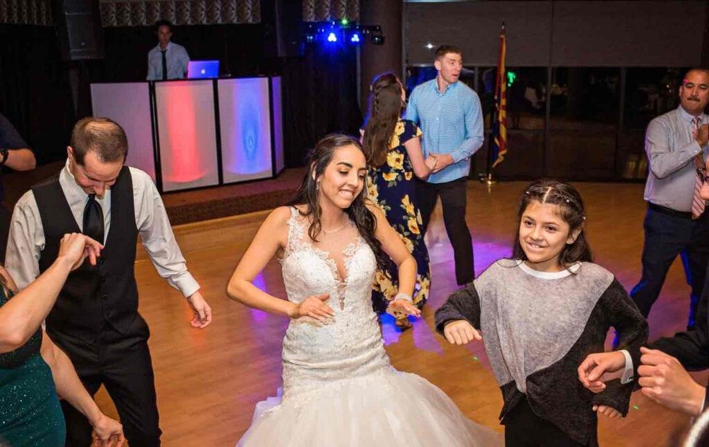 bride dancing at wedding in Arizona