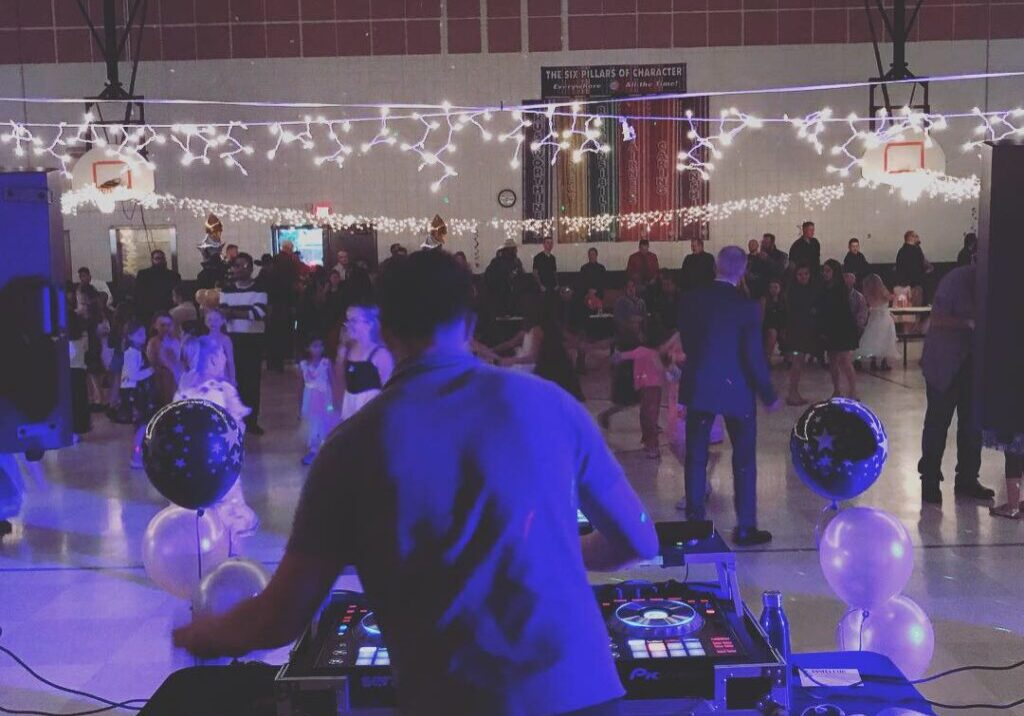 Kids dance at DJ Dance Party