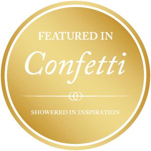 Emery Ann Design Custom Wedding Invitation in Confetti