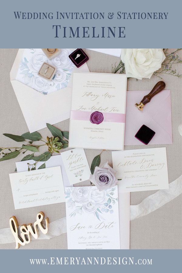 Wedding Invitation Timeline