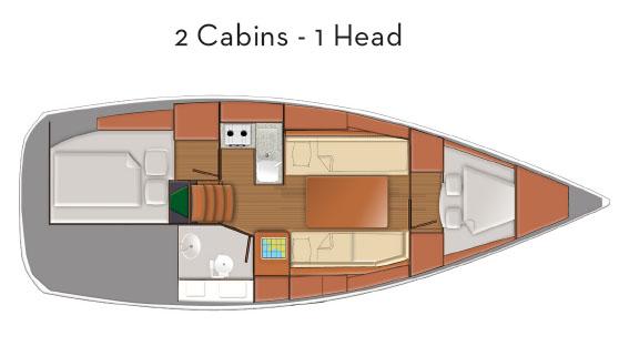 Jeanneau SO319 cabin layout