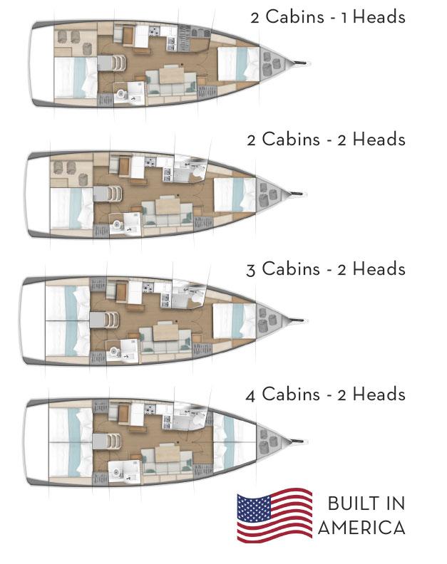 Jeanneau SO440 cabin layout