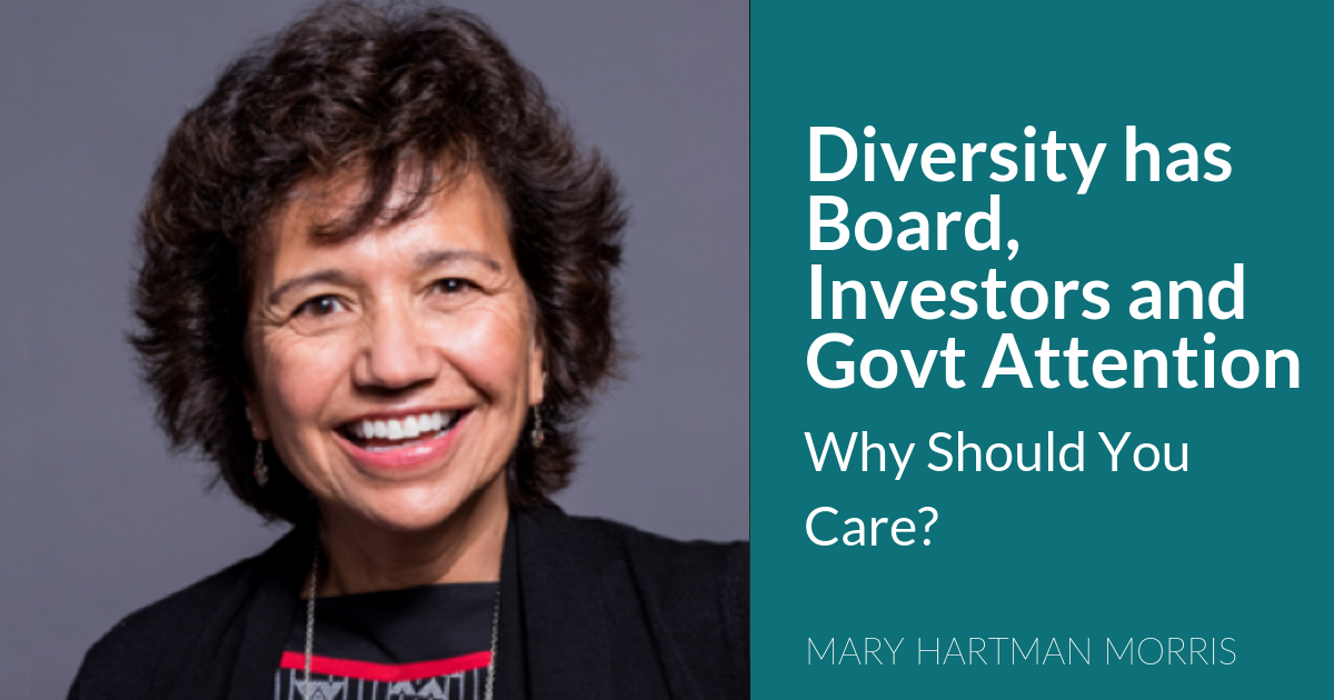 Diversity has Board, Investors and Govt Attention