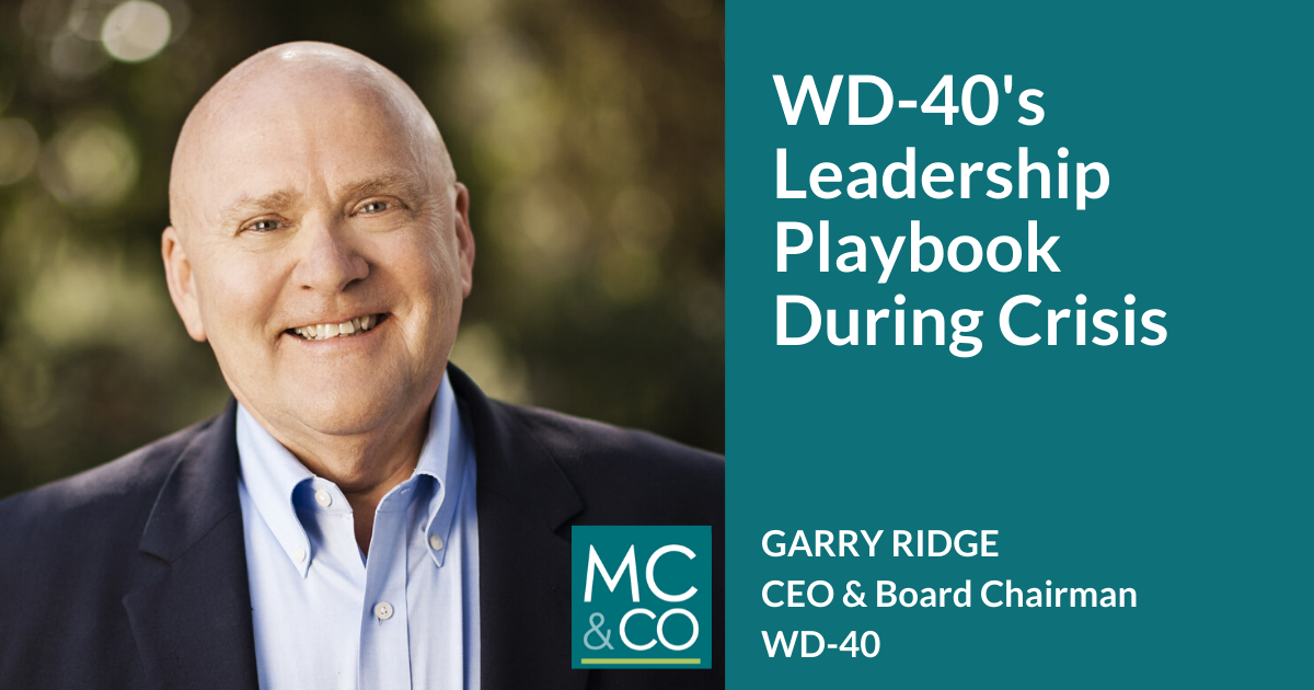 WD-40's Leadership Playbook During Crisis