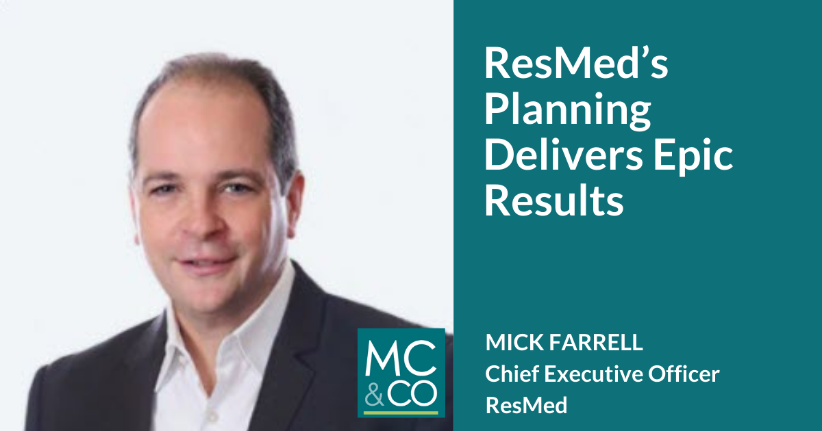 Guest: Mick Farrell with ResMed