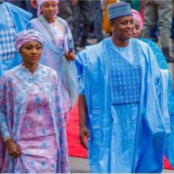 Zahra Buhari and hubby, Ahmed Indimi, celebrate 3rd wedding anniversary