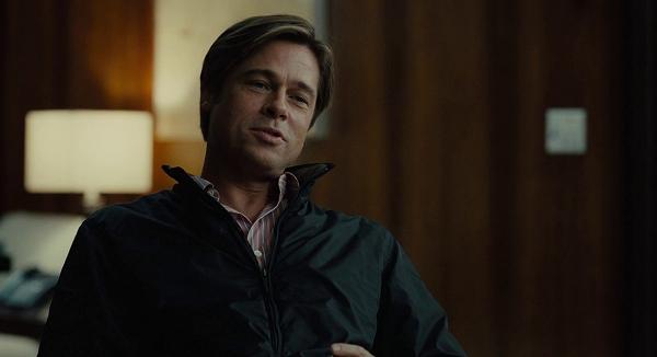 Cena de um dos filmes para vendedores com Brad Pitt.