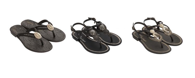 Três modelos de calçados femininos Ivete Sangalo disponíveis na Daniel Atacado.