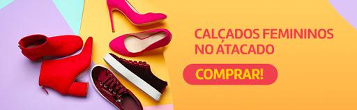 Banner para a categoria de calçados femininos no site da Daniel Atacado.