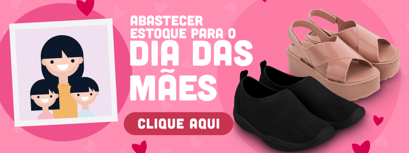 Banner para página de calçados femininos da Daniel Atacado.