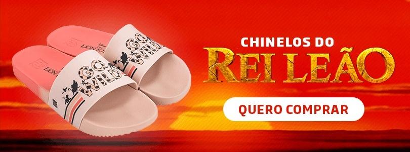 Banner para a coleção de chinelos Zaxy Rei Leão.