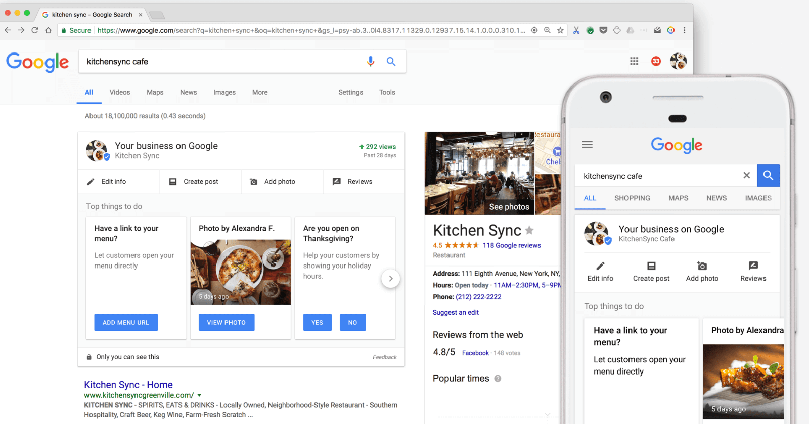 O Google Meu Negócio é uma das plataformas básicas para descobrir como vender calçados pela internet.