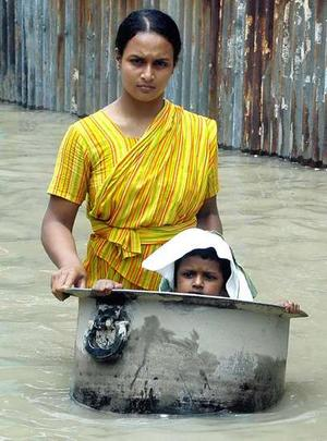 Photo of flooding in Bangladesh courtesy of The Melbourne Age