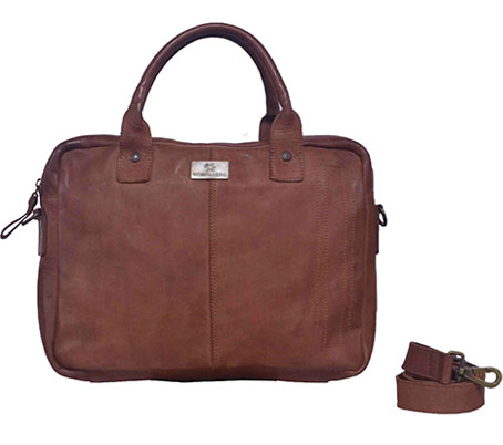 Genuine leather luxe laptop bag
