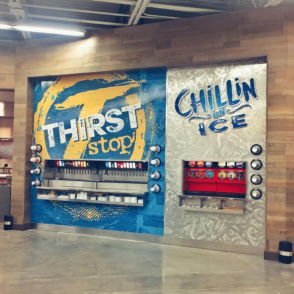 Sun Stop Trenton Interior Drink Station