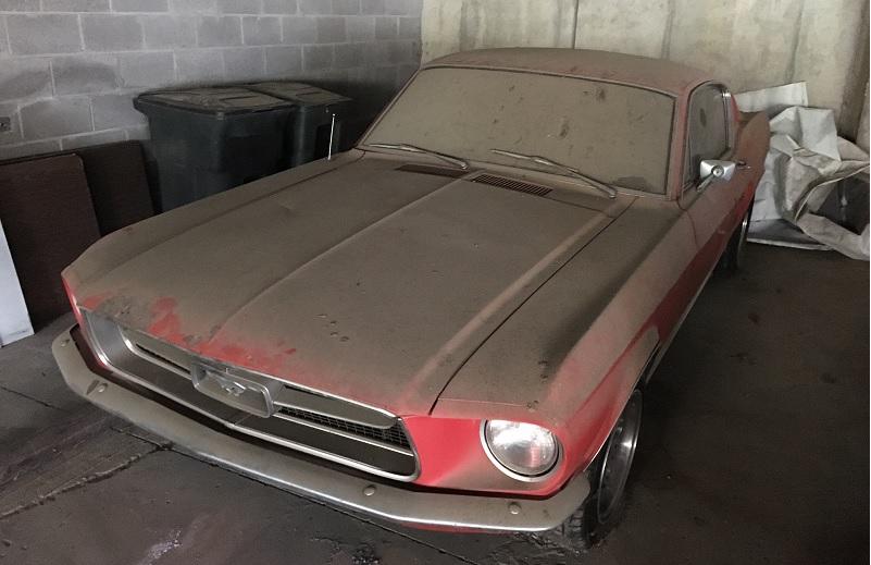 1967 Mustang Fastback before restoration in 2016