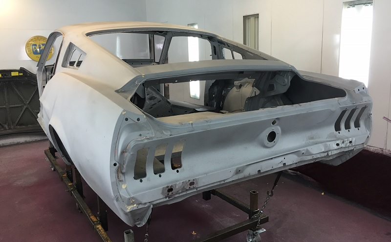 1967 Mustang Fastback Stripped for Shelby Restoration