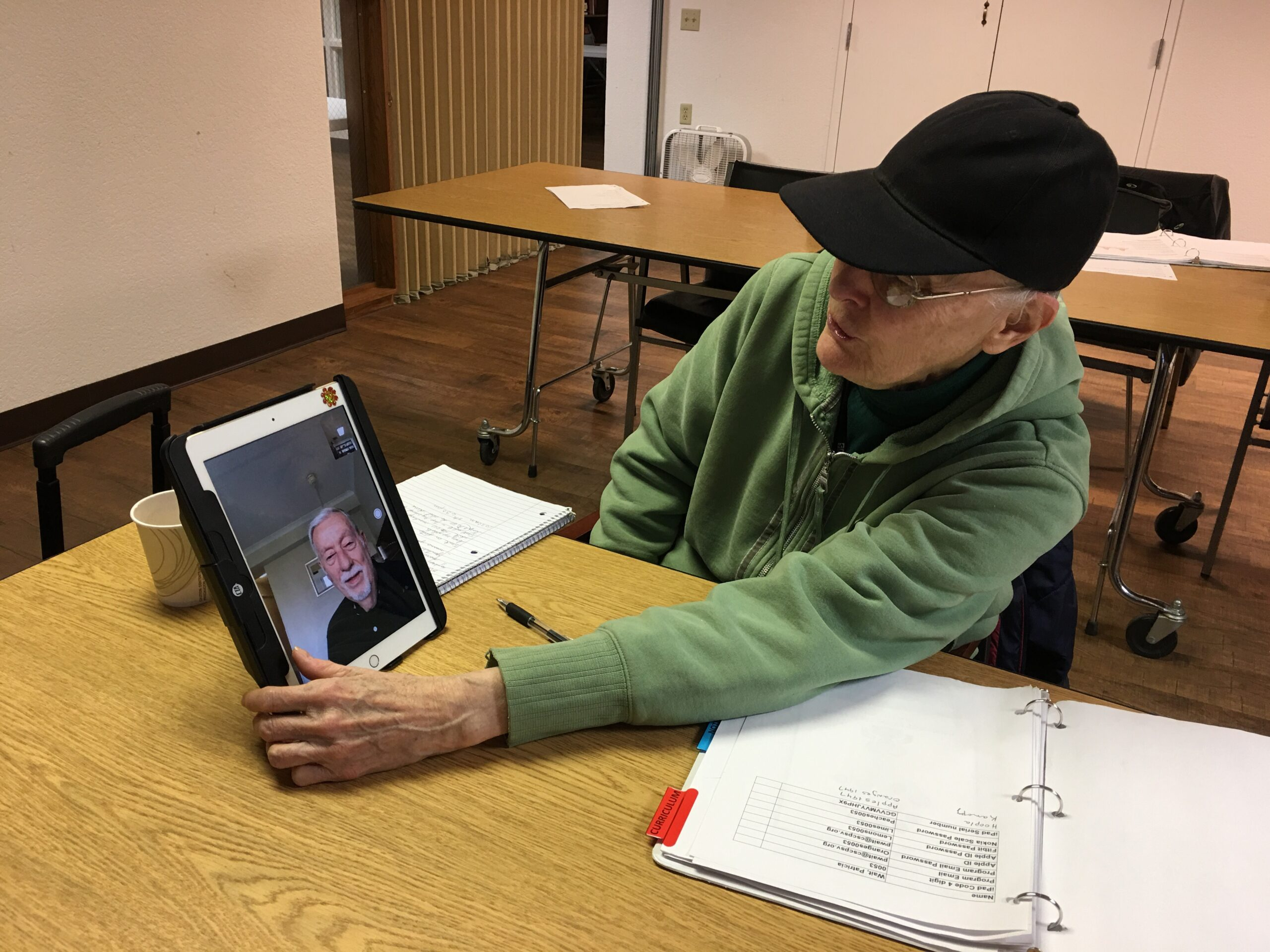Staff and seniors virtually connect