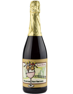 Pocono vineyard blush sparkling wine