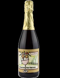 Pocono vineyard blush sparkling wine