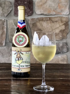 The best wine in Pennsylvania, Bliss from Mountain View Vineyard with the American Wine Society (AWS) Medal.
