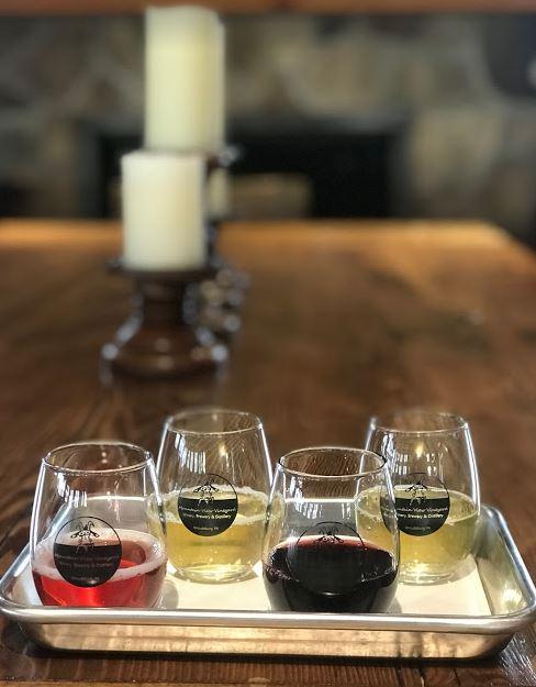 $10.00 Wine Flight includes 4 (2 ounce) wine flight samples.