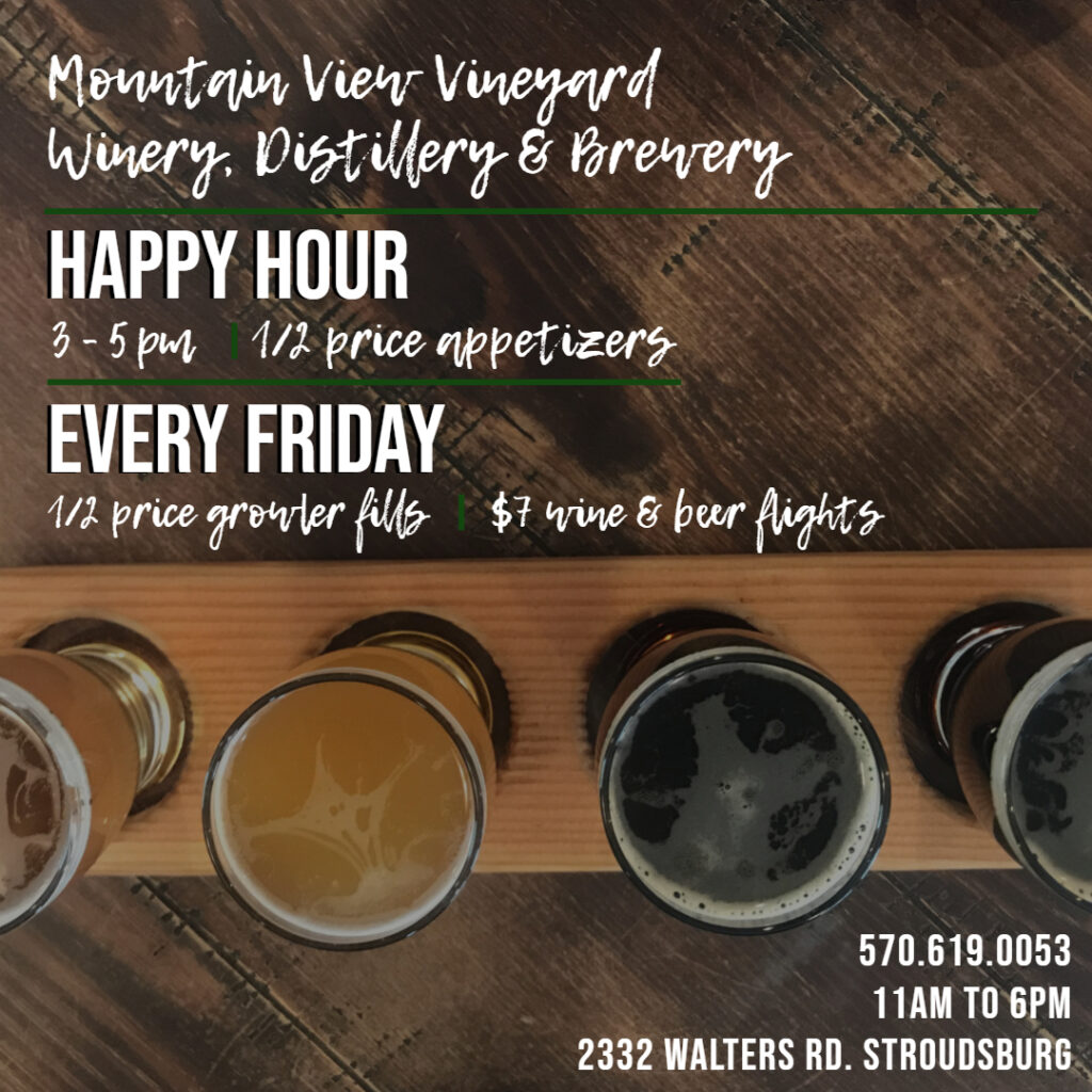 happy hour 3 to 5 with Friday Growler Fills