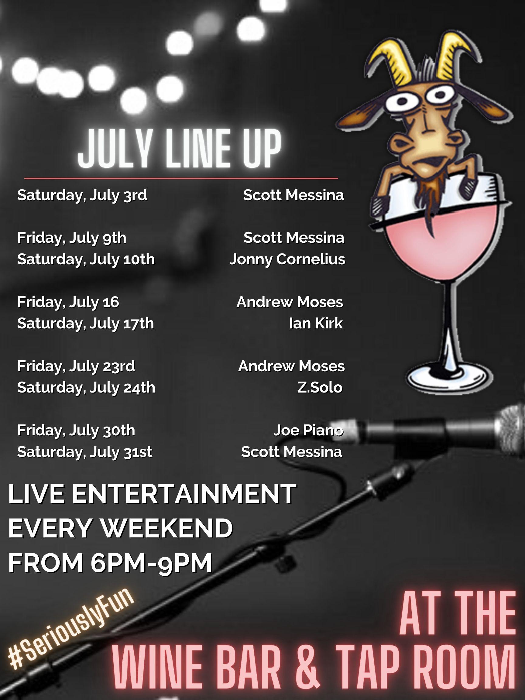 July Entertainment flyer cs