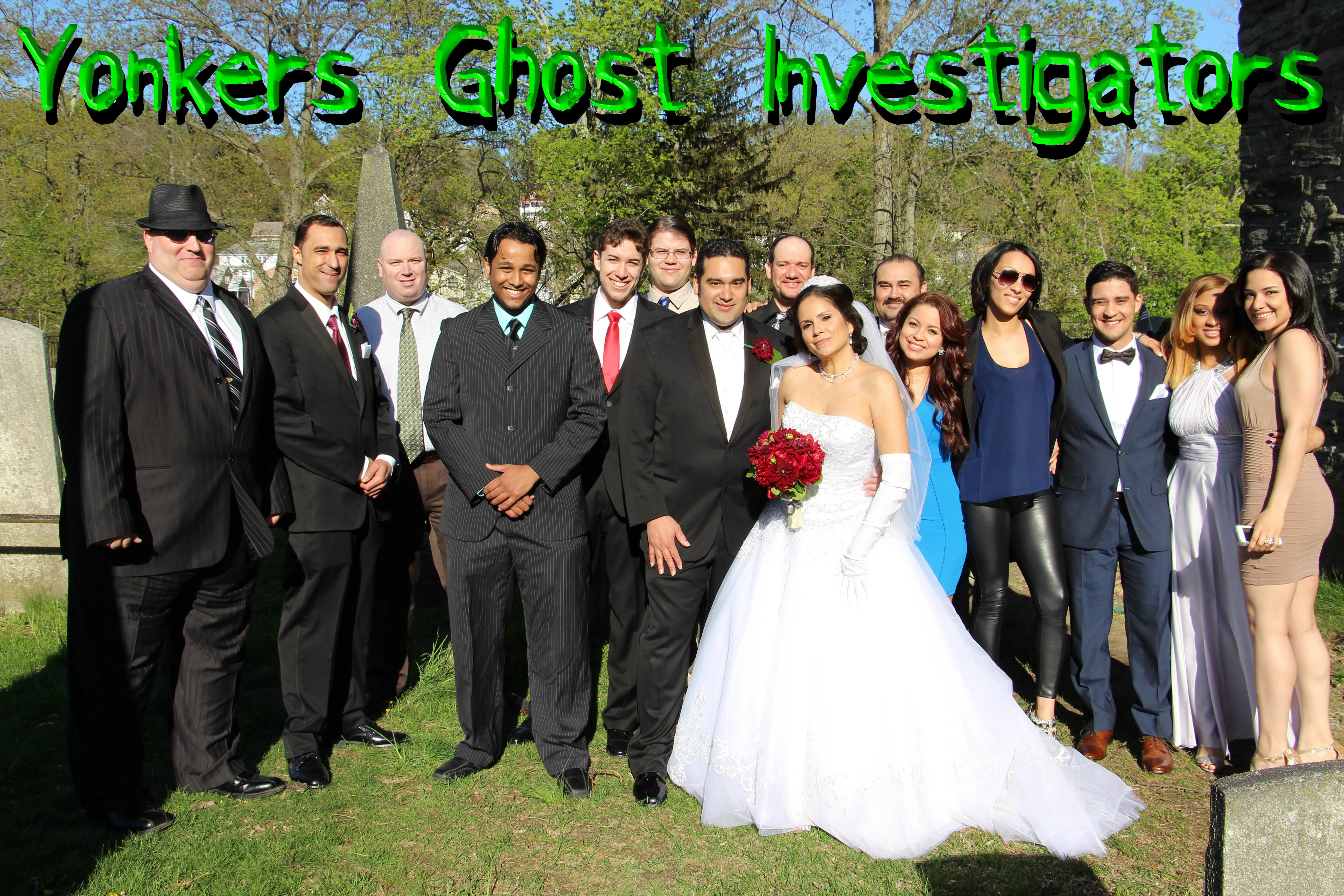 Most of the current and former members of the Westchester Ghost Investigators at Jason and Jo-Ann's wedding - Courtesy: Yonkers Ghost Investigators