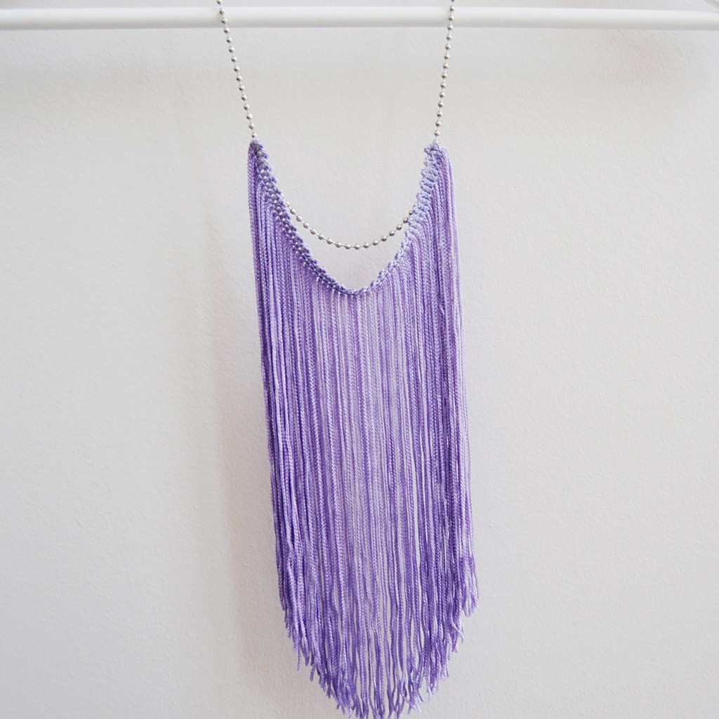 Spring fashion trends lilac fringe