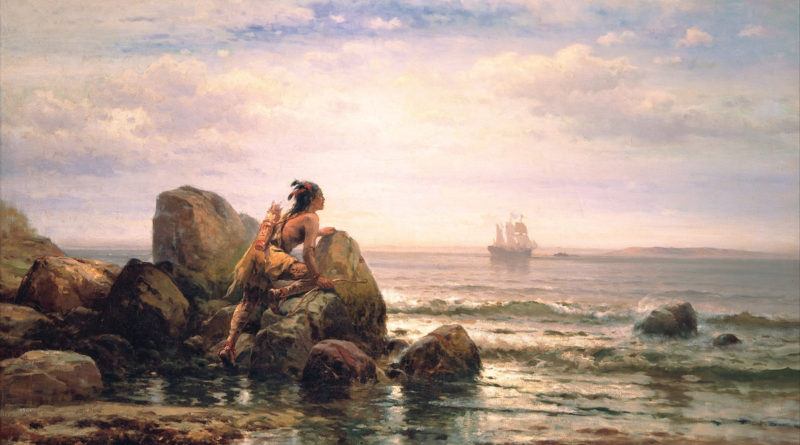 Edward Moran's (18291901) Henrik Hudson Entering New York Harbor, September 11, 1609; painted in 1892